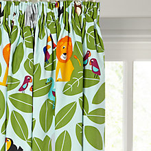 Buy little home at John Lewis Animal Fun Pencil Pleat Blackout Lined Children's Curtains Online at johnlewis.com