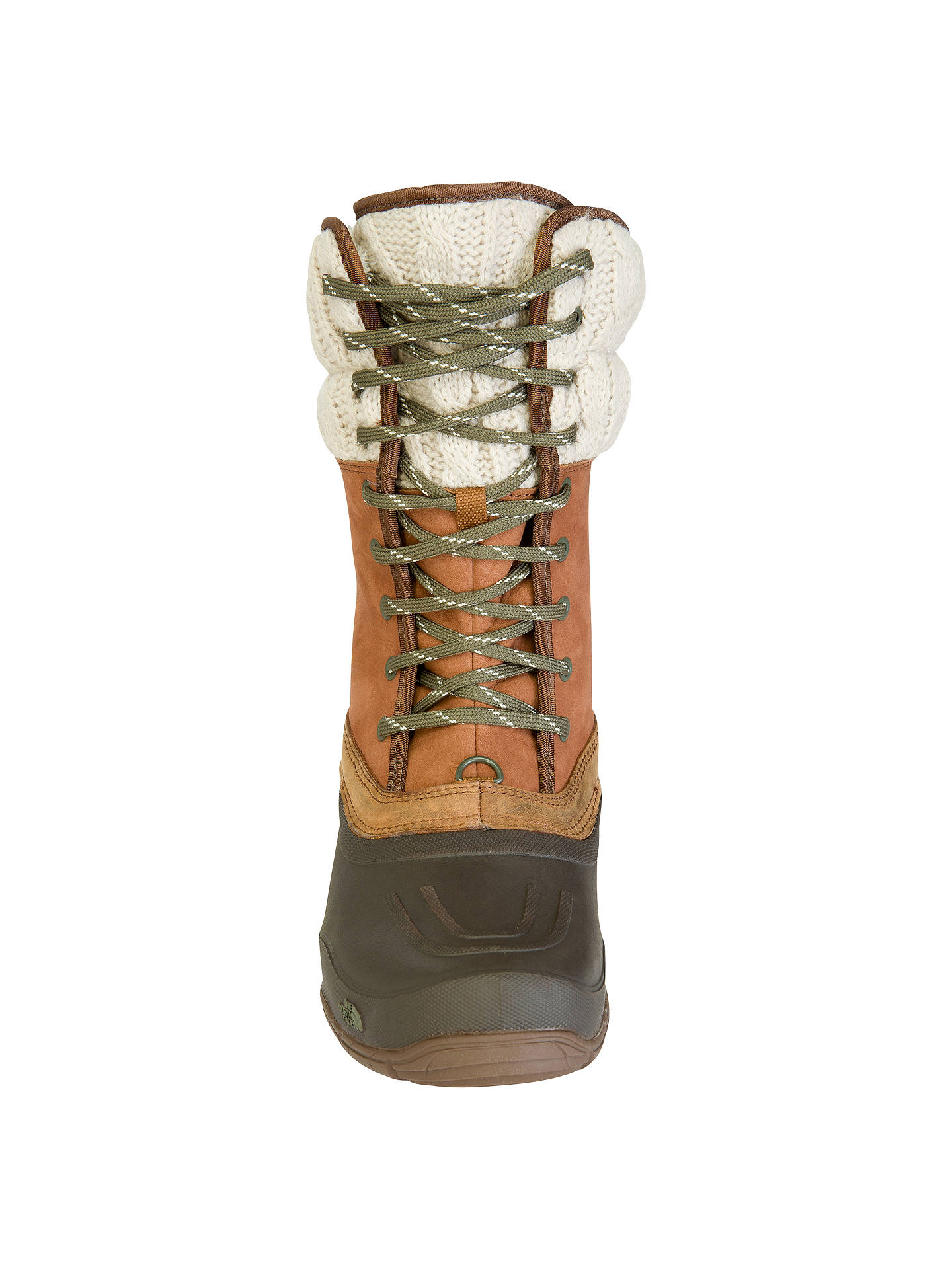 ac678a827 The North Face Women's Shellista Lace Leather Snow Boots, Brown at ...