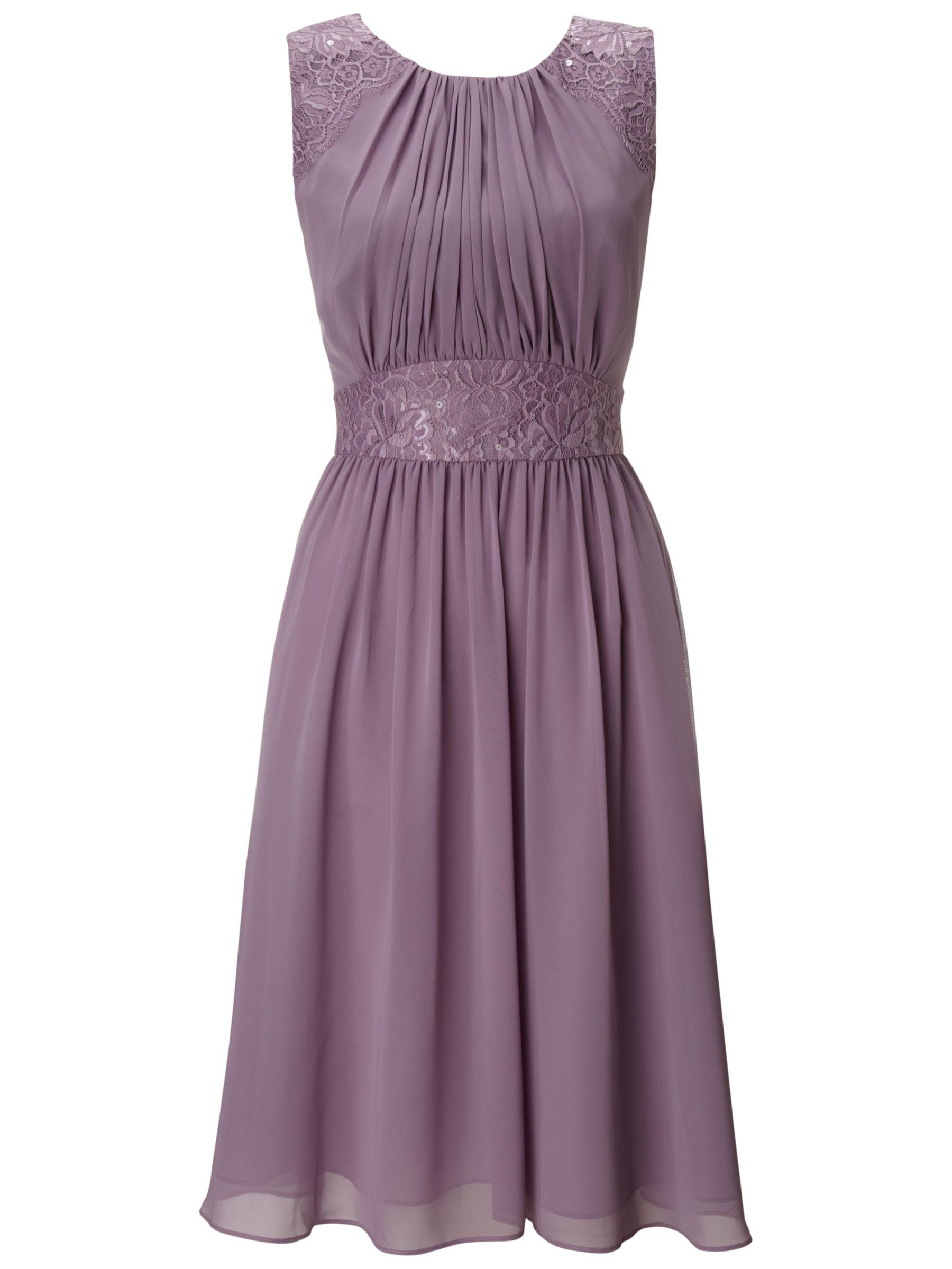 Ariella Alia Chiffon Short Dress, Lavender