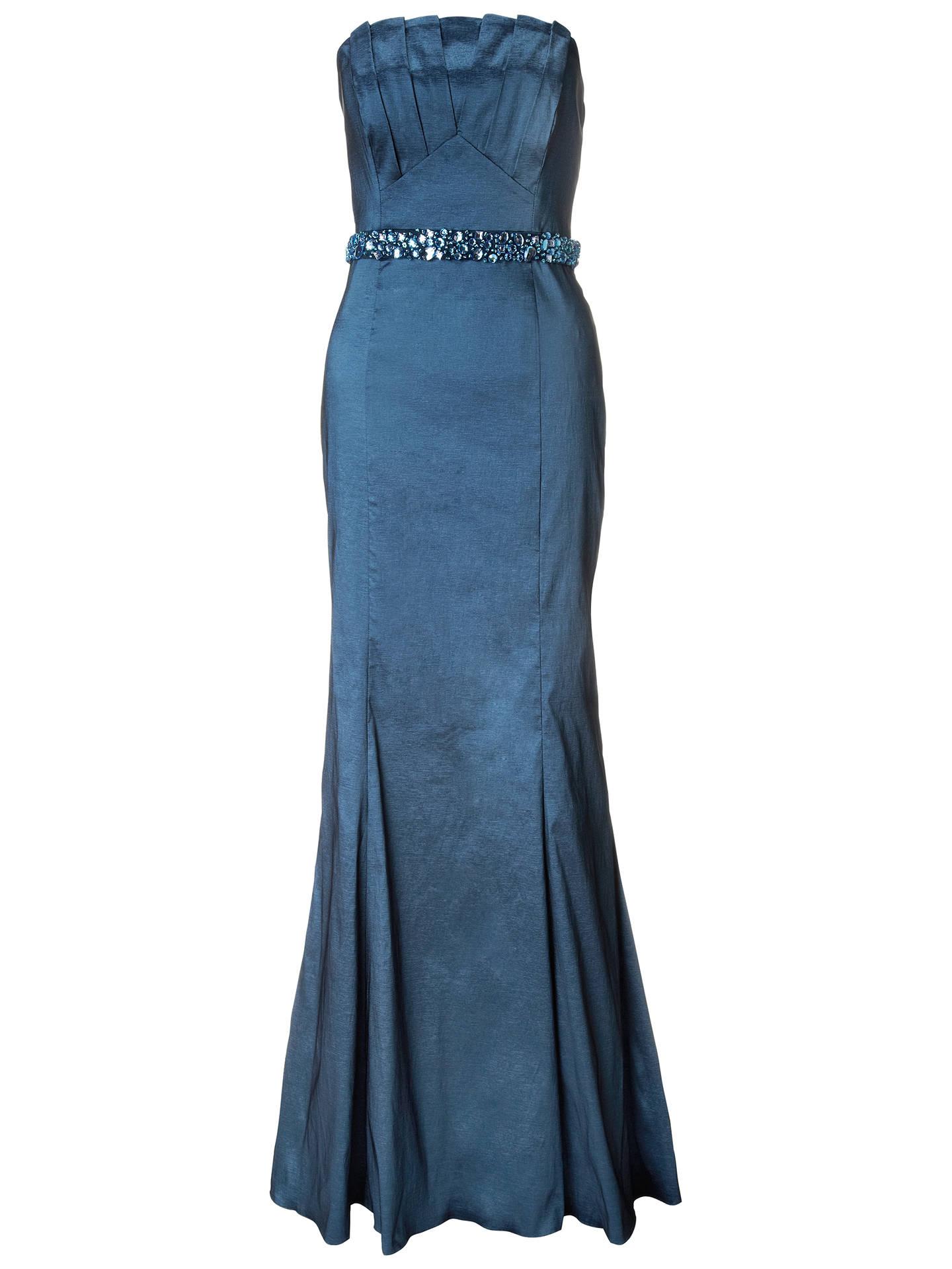 5c503d302fda Ariella Denise Stretch Taffeta Long Strapless Dress, Blue at John ...