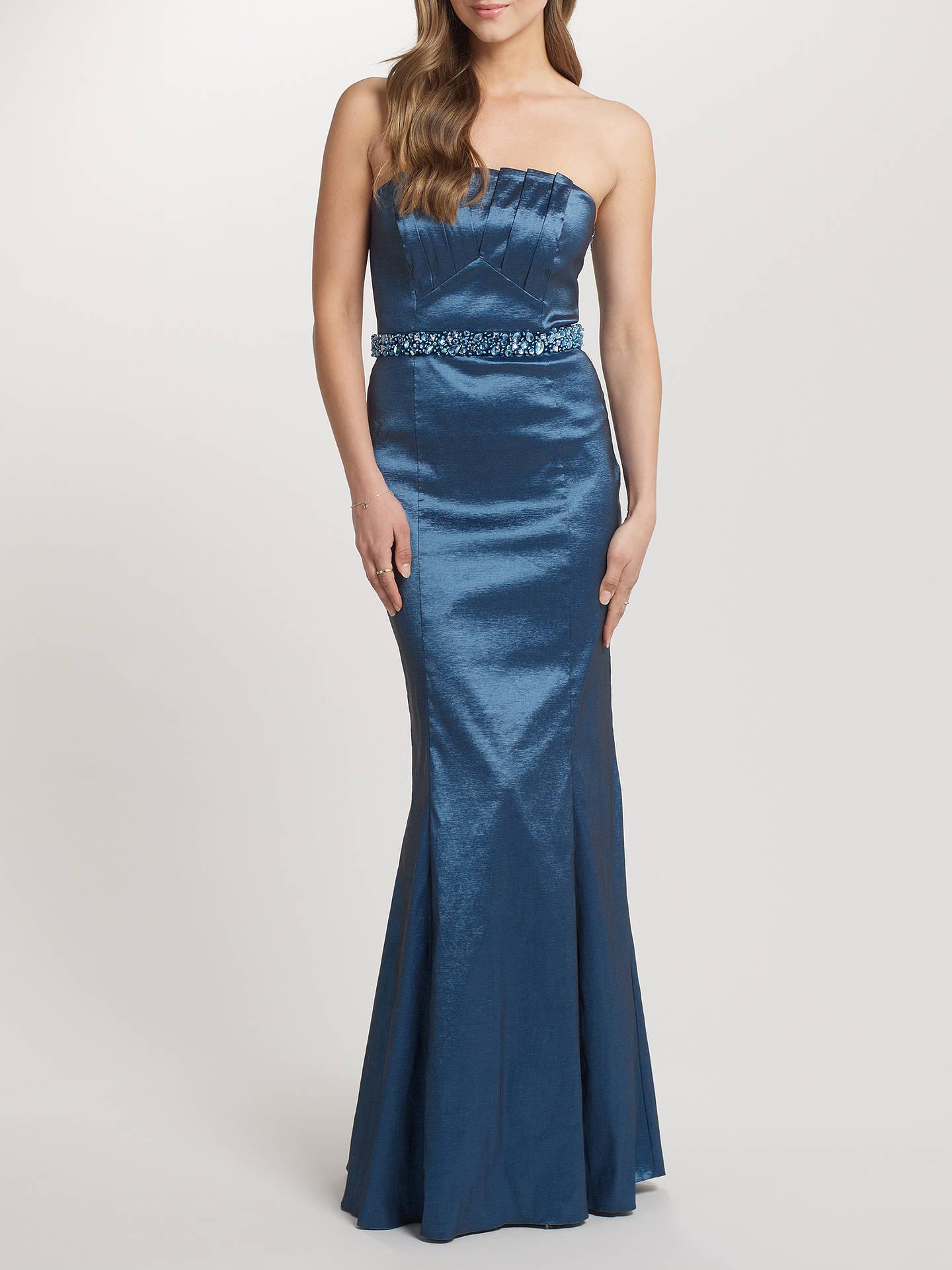 5b5bbaf7b219 Buy Ariella Denise Stretch Taffeta Long Strapless Dress, Blue, 8 Online at  johnlewis.