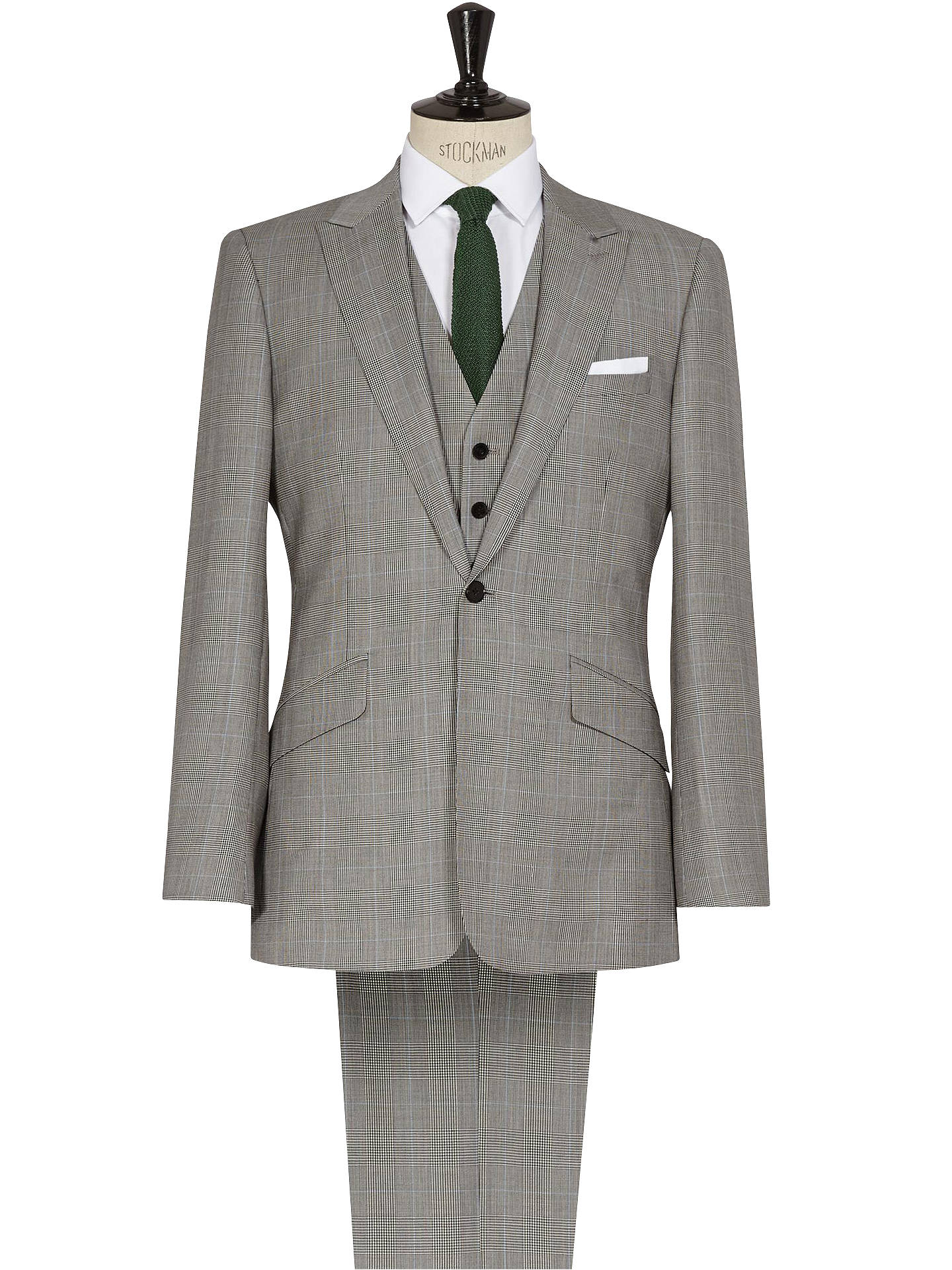 Reiss Hercules 3 Piece Prince Of Wales Check Suit, Grey at