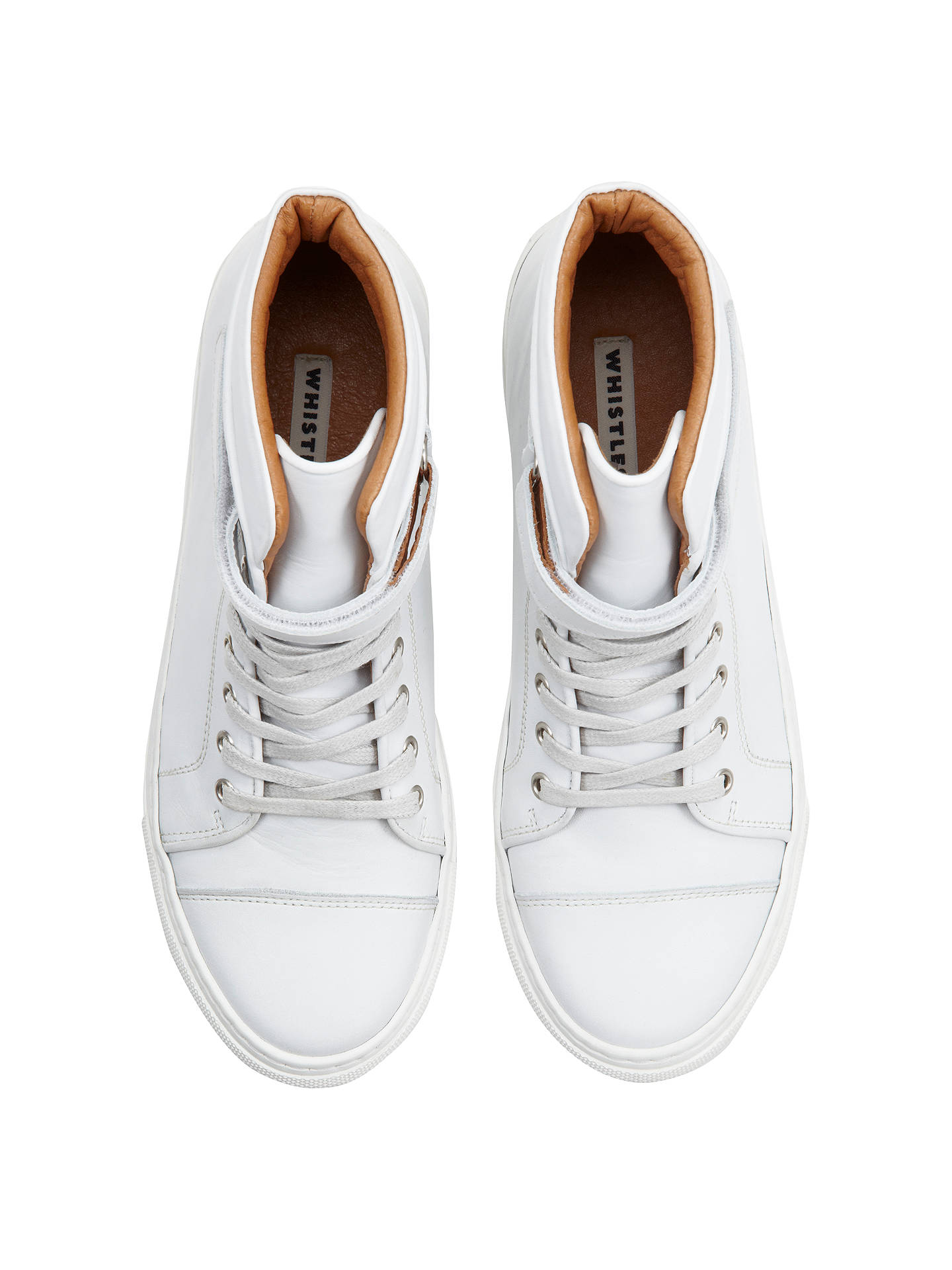 Buy Whistles Rigby Leather Trainer Boot, White, 3 Online at johnlewis.com