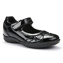Buy Geox Shadow Patent Leather Shoes, Black Online at johnlewis.com