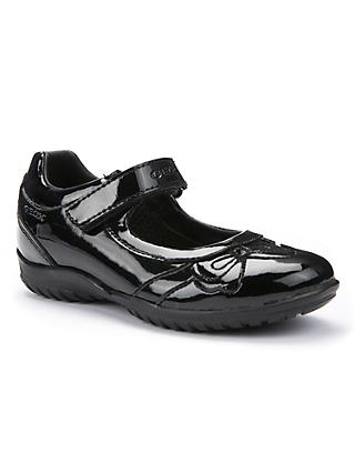 Geox Shadow Patent Leather Shoes, Black