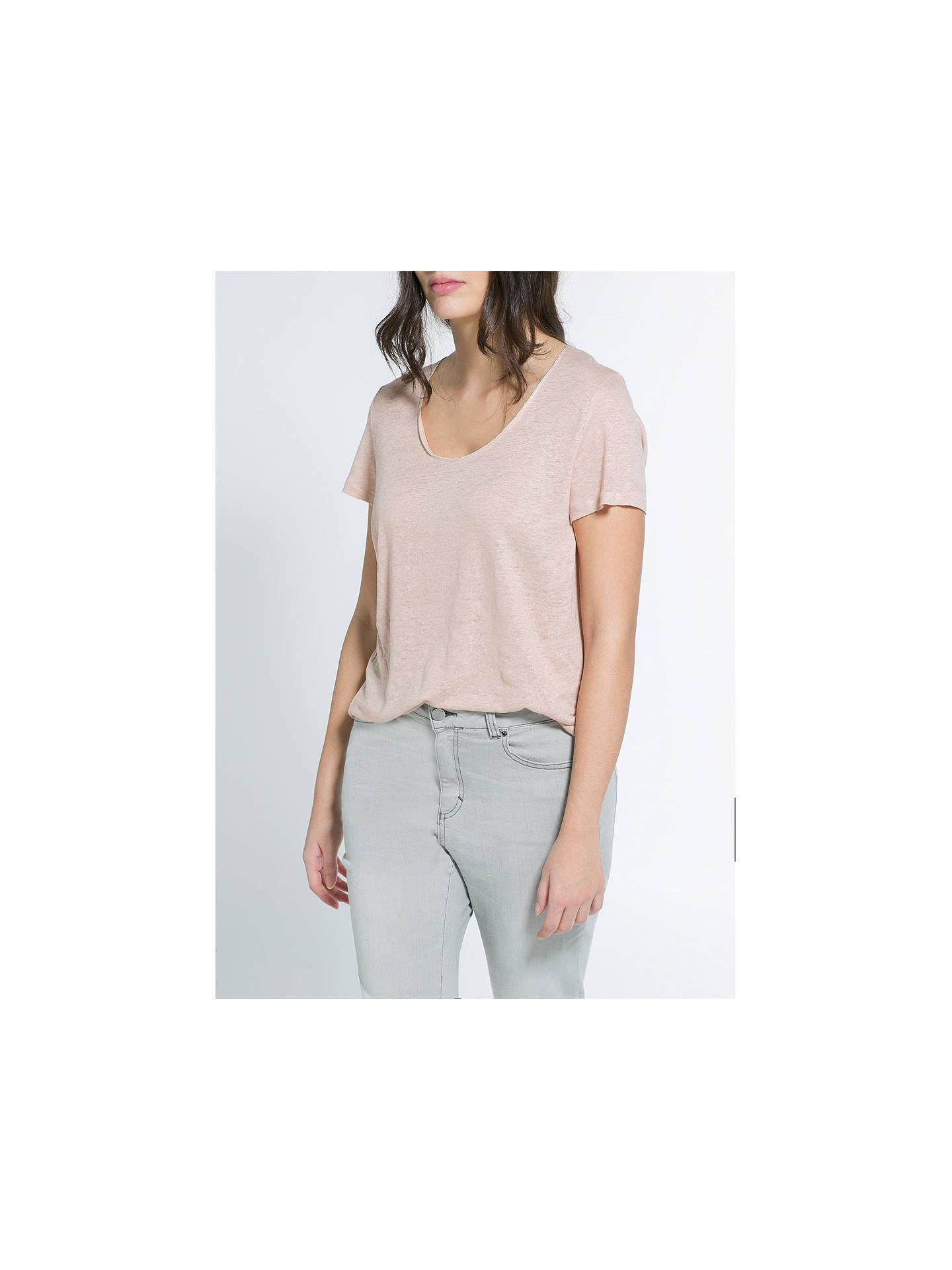 93bfc3c5123 Violeta by Mango Linen T-Shirt at John Lewis   Partners