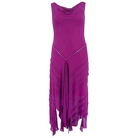 Buy Chesca Cinderella Trim Chiffon Dress, Bright Pink Online at johnlewis.com