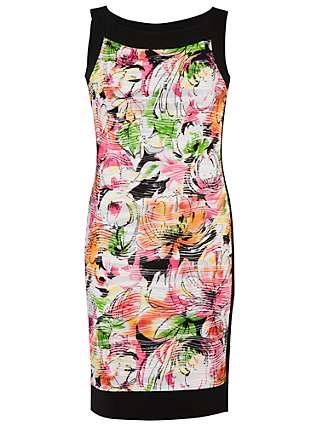 Chesca Carnival Wave Print Border Dress, Multi