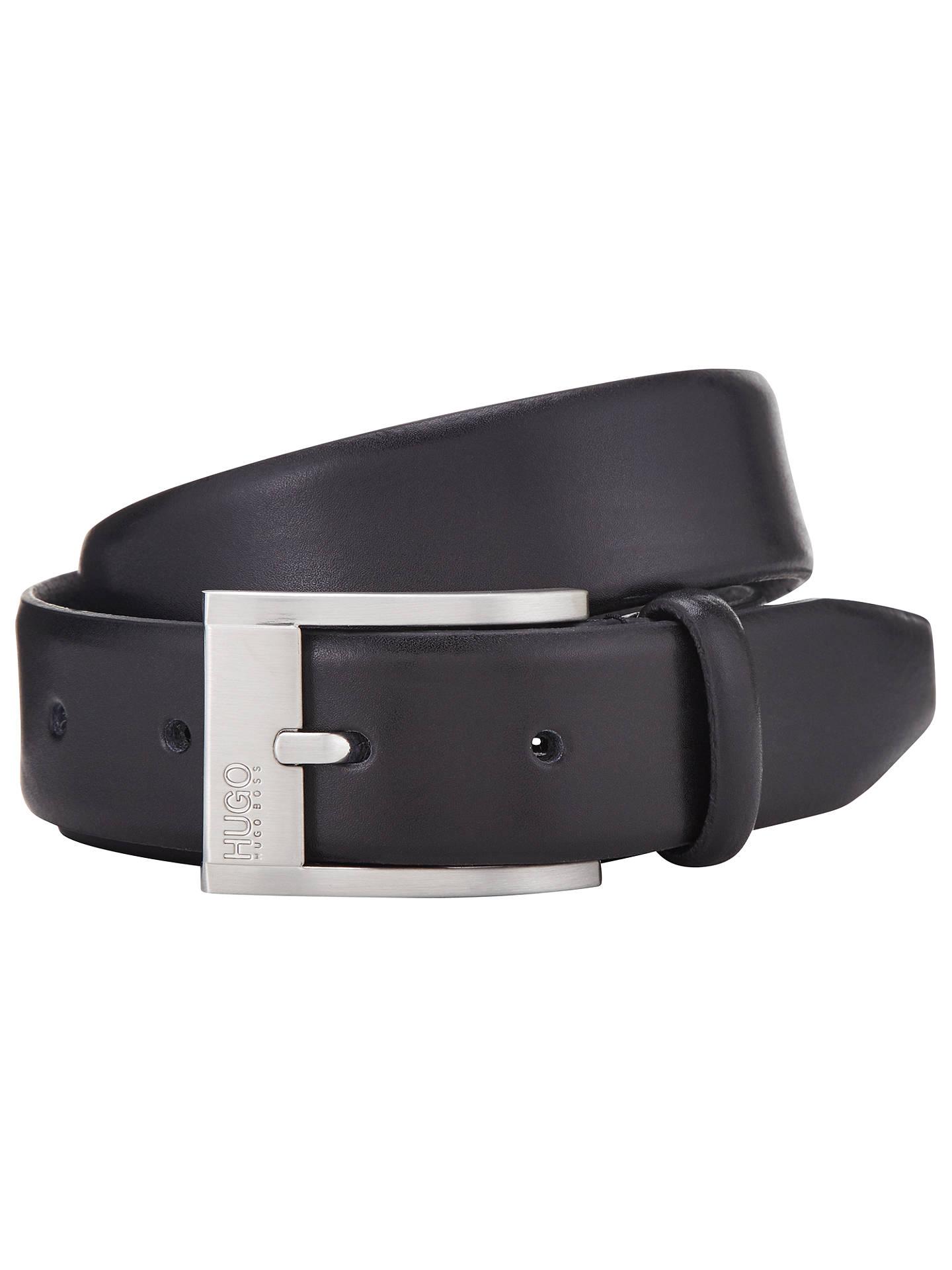 b1ca3546dc5 HUGO by Hugo Boss C-Brandon Smooth Leather Belt, Black at John Lewis ...