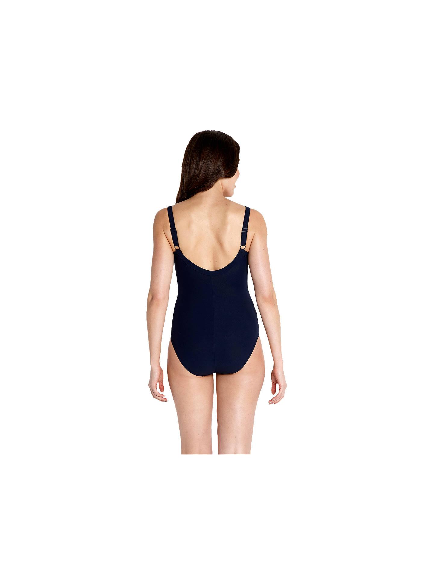 14e522264c7 ... Buy Speedo Sculpture Watergem Adjustable Swimsuit, Navy, 32 Online at  johnlewis.com ...