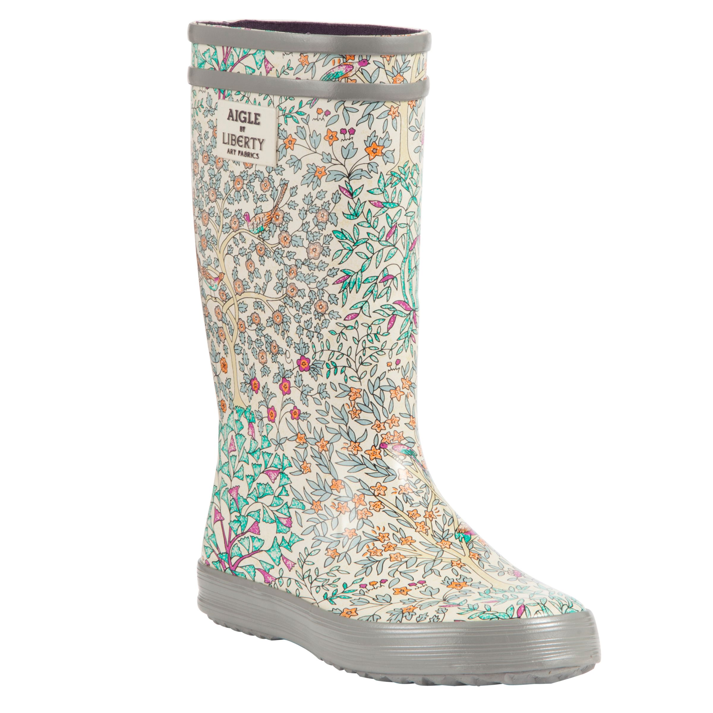 low priced 139ee 32717 Aigle Children's Liberty Libpop Wellington Boots, Multi at ...
