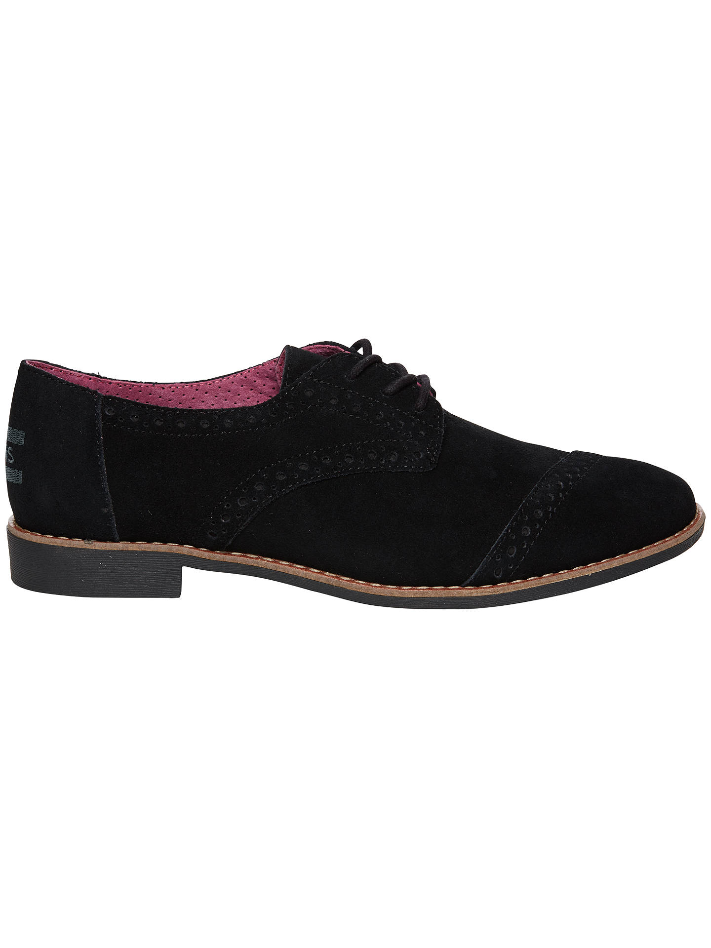 d26e559a8c6 TOMS Suede Leather Brogue Shoes at John Lewis   Partners