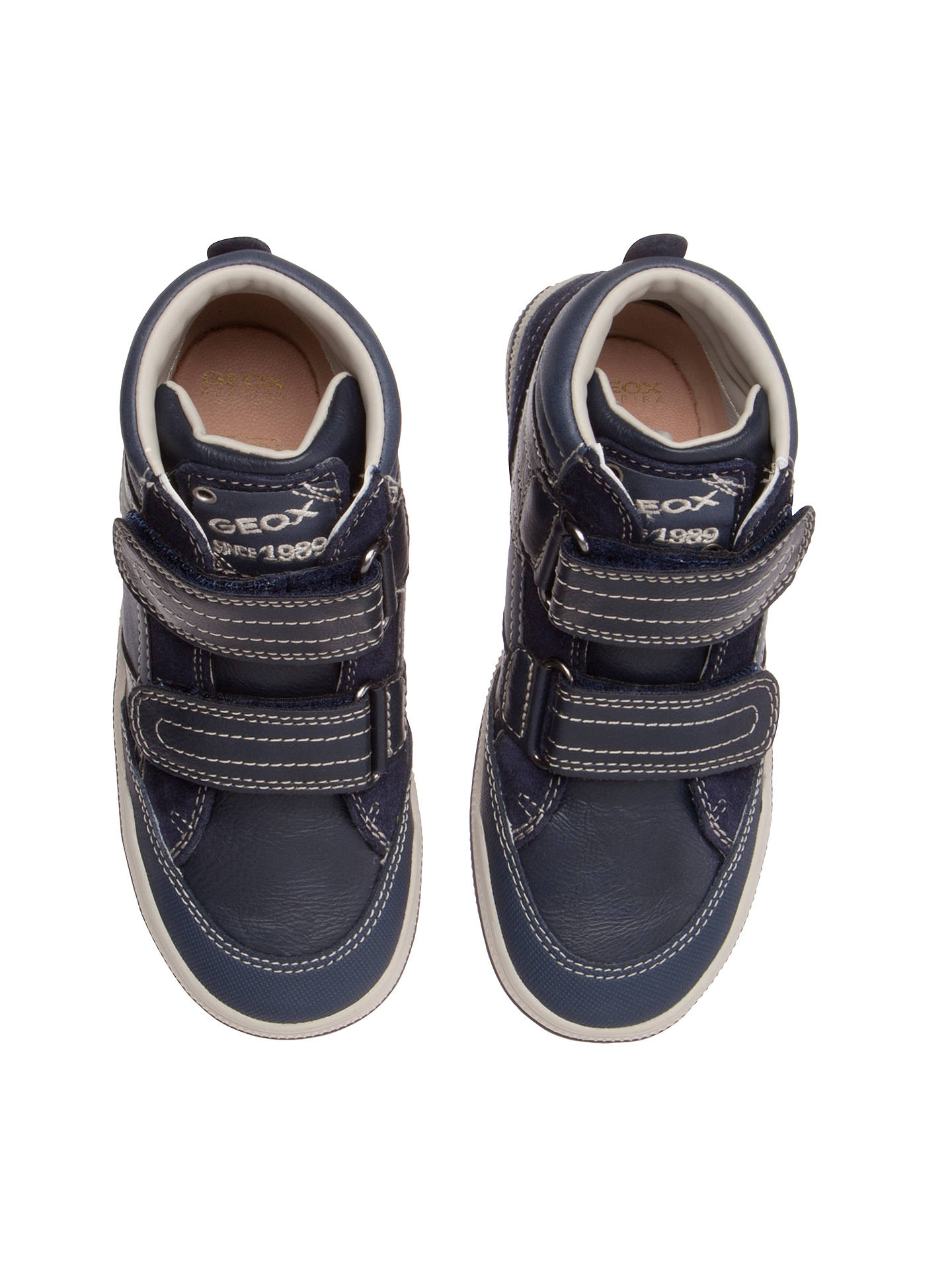 premium selection 3c882 f8859 Geox Elvis Leather Rip-Tape High-Top Trainers at John Lewis ...