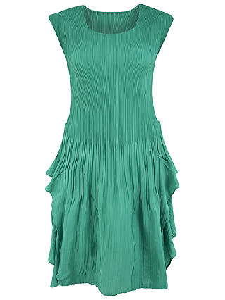 Buy Chesca Double Layer Pleated Sleeveless Dress, Jade, 12-14 Online at johnlewis.com