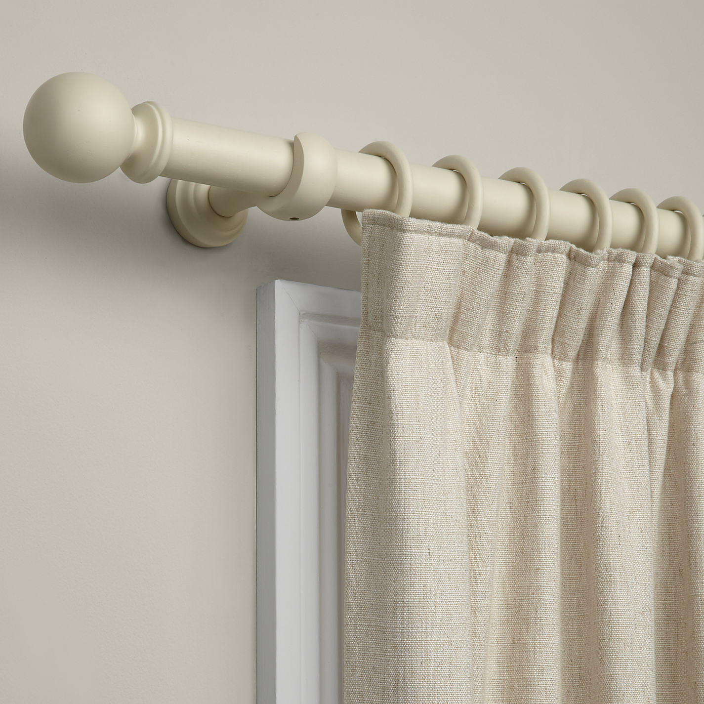 Buy John Lewis Curtain Pole Kit, Cream, Dia.35mm | John Lewis