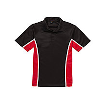 Buy Little Heath School Boys' Polo Shirt, Black/Multi Online at johnlewis.com