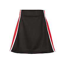 Buy Little Heath School Girls' Skort, Black/Multi Online at johnlewis.com