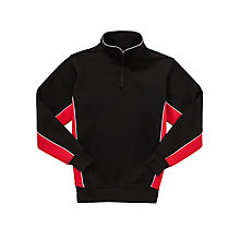 Buy Little Heath School Sports Top, Black/Red Online at johnlewis.com