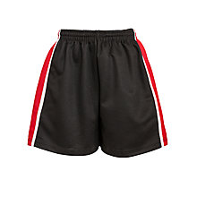 Buy Little Heath School Boys' PE Shorts, Black/Multi Online at johnlewis.com