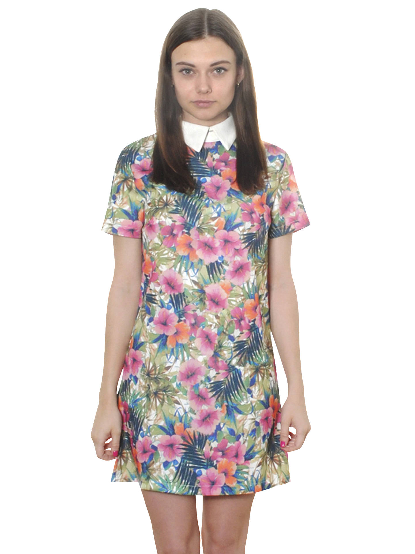 BuyTrue Decadence Collared Floral Shift Dress, Multi, 8 Online at johnlewis.com