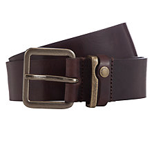 Buy Ted Baker Katchup Leather Belt, Chocolate Online at johnlewis.com