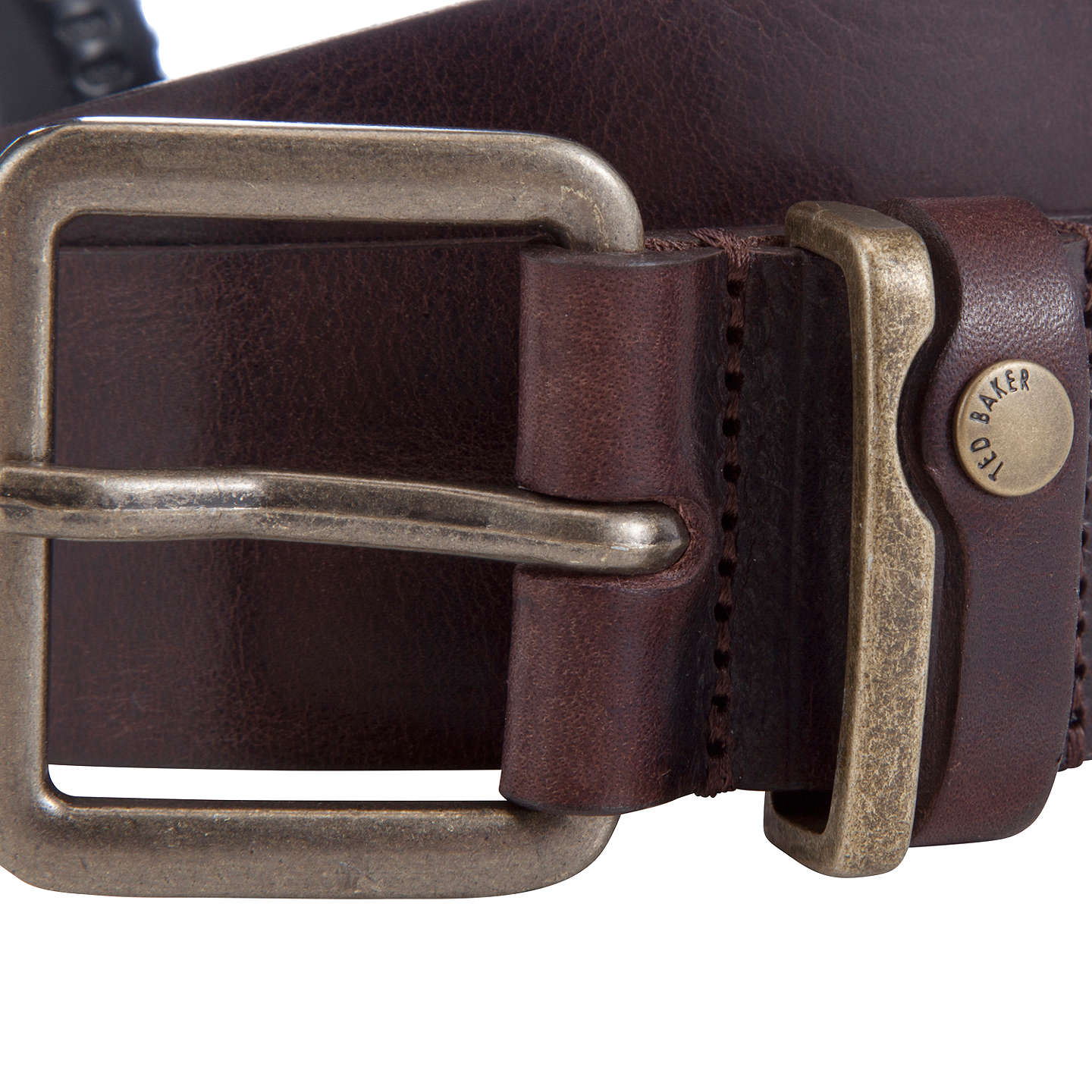 BuyTed Baker Katchup Leather Belt, Chocolate, 32 Online at johnlewis.com
