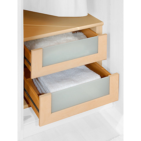 Buy John Lewis Elstra Wardrobe Internal Drawers with Glass Fronts, Set of 2 Online at johnlewis.com