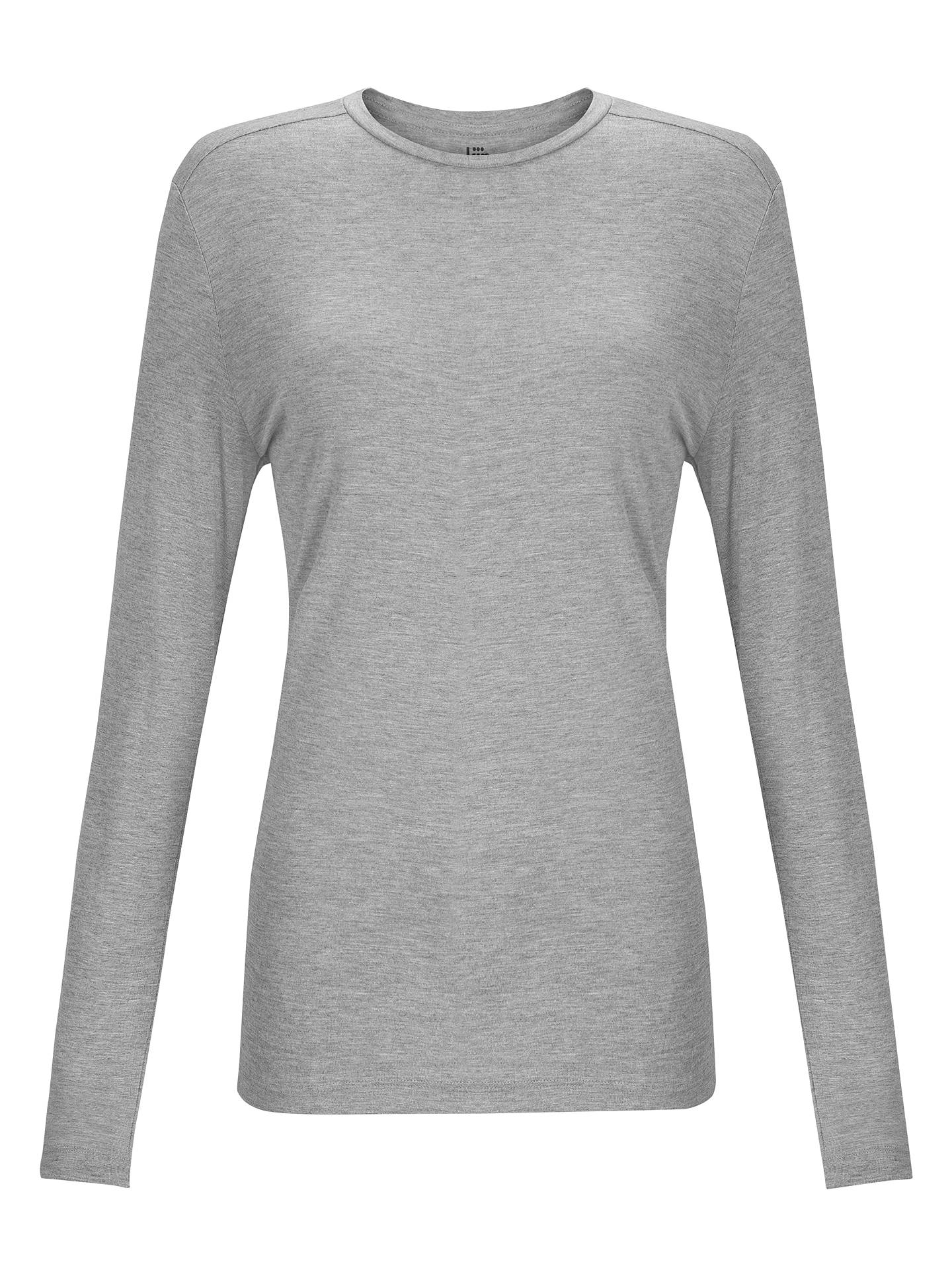 Buy Kin by John Lewis Long Sleeve T-Shirt, Grey Marl, 8 Online at johnlewis.com
