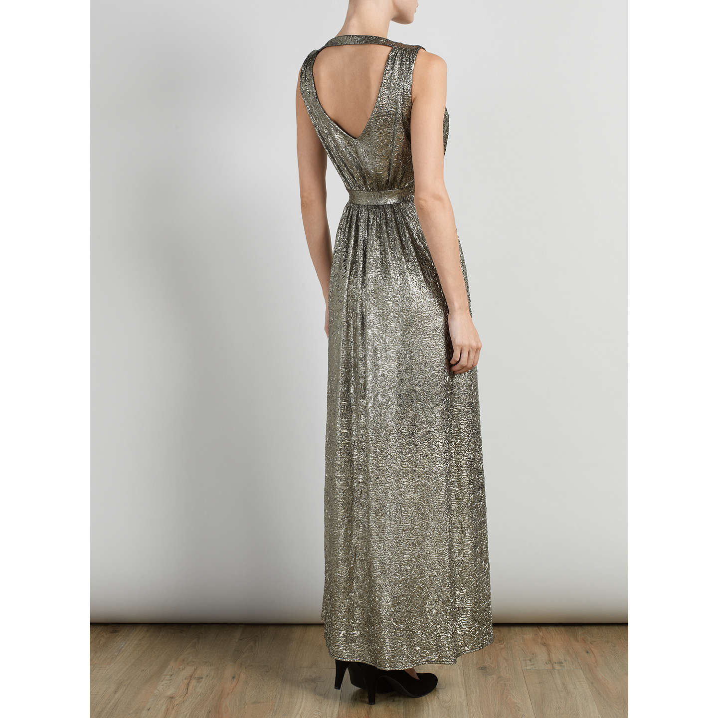 BuySomerset by Alice Temperley Lurex Maxi Dress, Gold, 6 Online at johnlewis.com