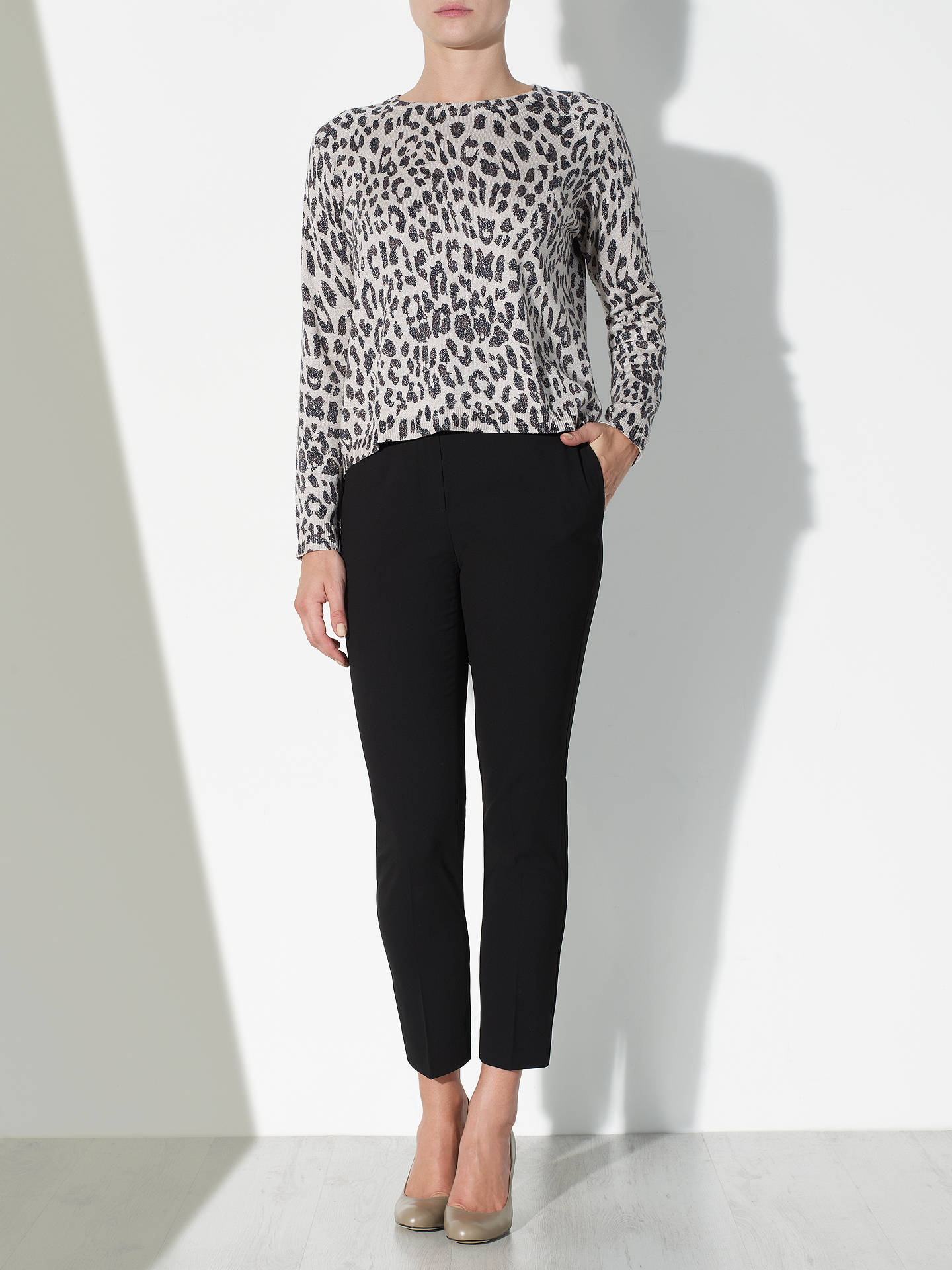 Buy COLLECTION by John Lewis Lurex Animal Print Jumper, Multi, S Online at johnlewis.com