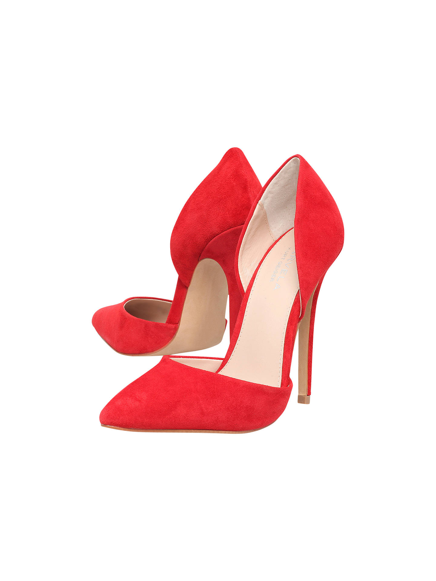BuyCarvela Albert High Heel Stiletto Court Shoes, Red, 3 Online at johnlewis.com