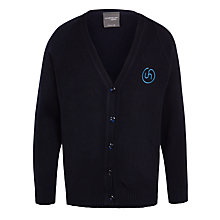 Buy Upton House School Girls' Cardigan, Navy Online at johnlewis.com