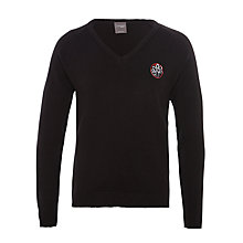 Buy Holy Family Catholic School and Sixth Form V-Neck Jumper, Black Online at johnlewis.com