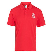 Buy Holy Family Catholic School and Sixth Form Polo Shirt, Red Online at johnlewis.com