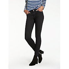 Buy Lee Scarlett Regular Waist Skinny Jeans, Black Online at johnlewis.com