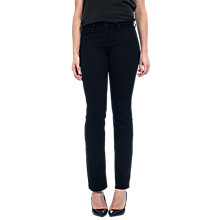 Buy NYDJ Marilyn Straight Leg Jeans, Black Overdye Online at johnlewis.com