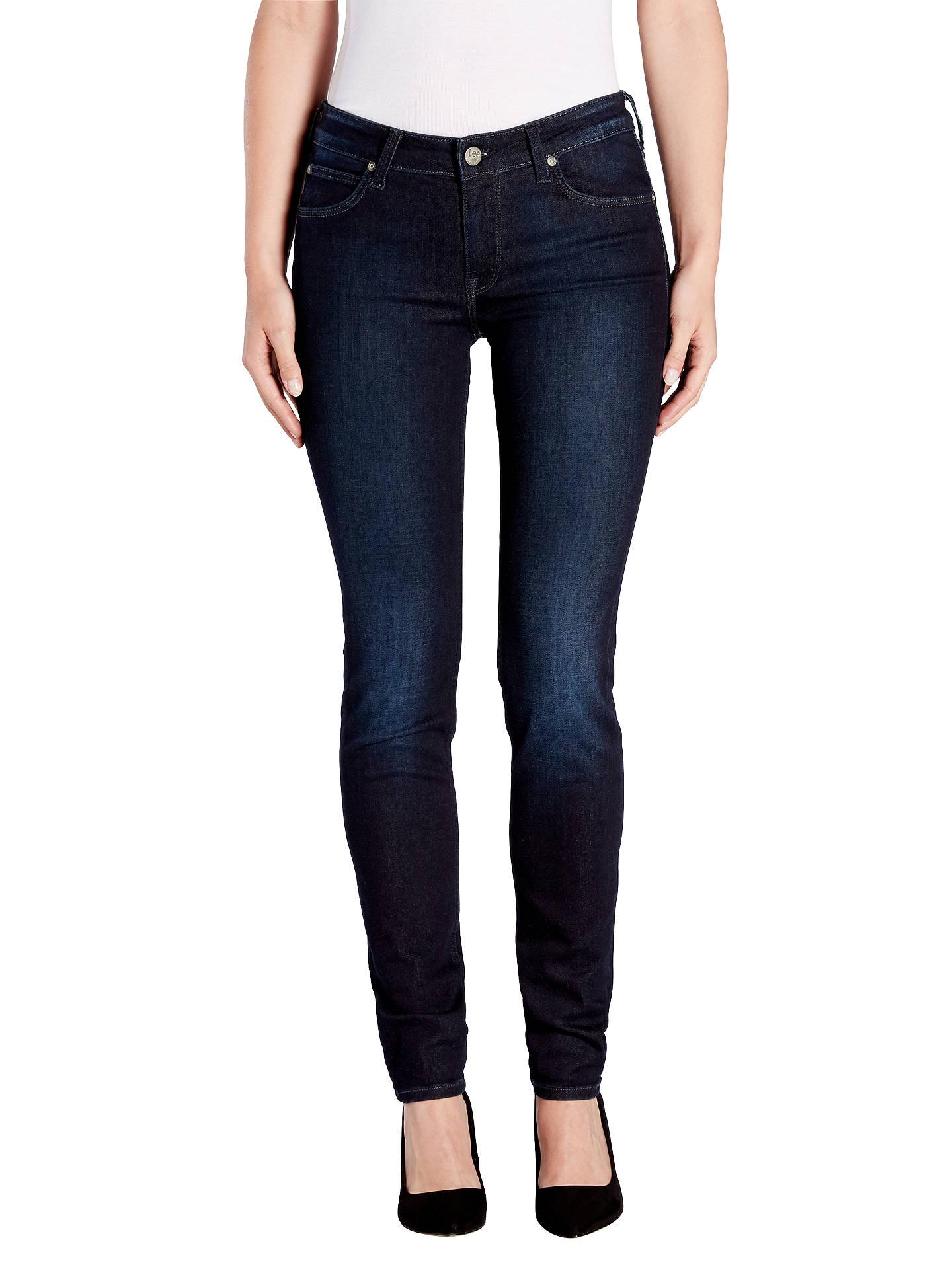 fb0602e1 Buy Lee Scarlett Regular Waist Skinny Jeans, Velvet Blue, W27/L31 Online at  ...