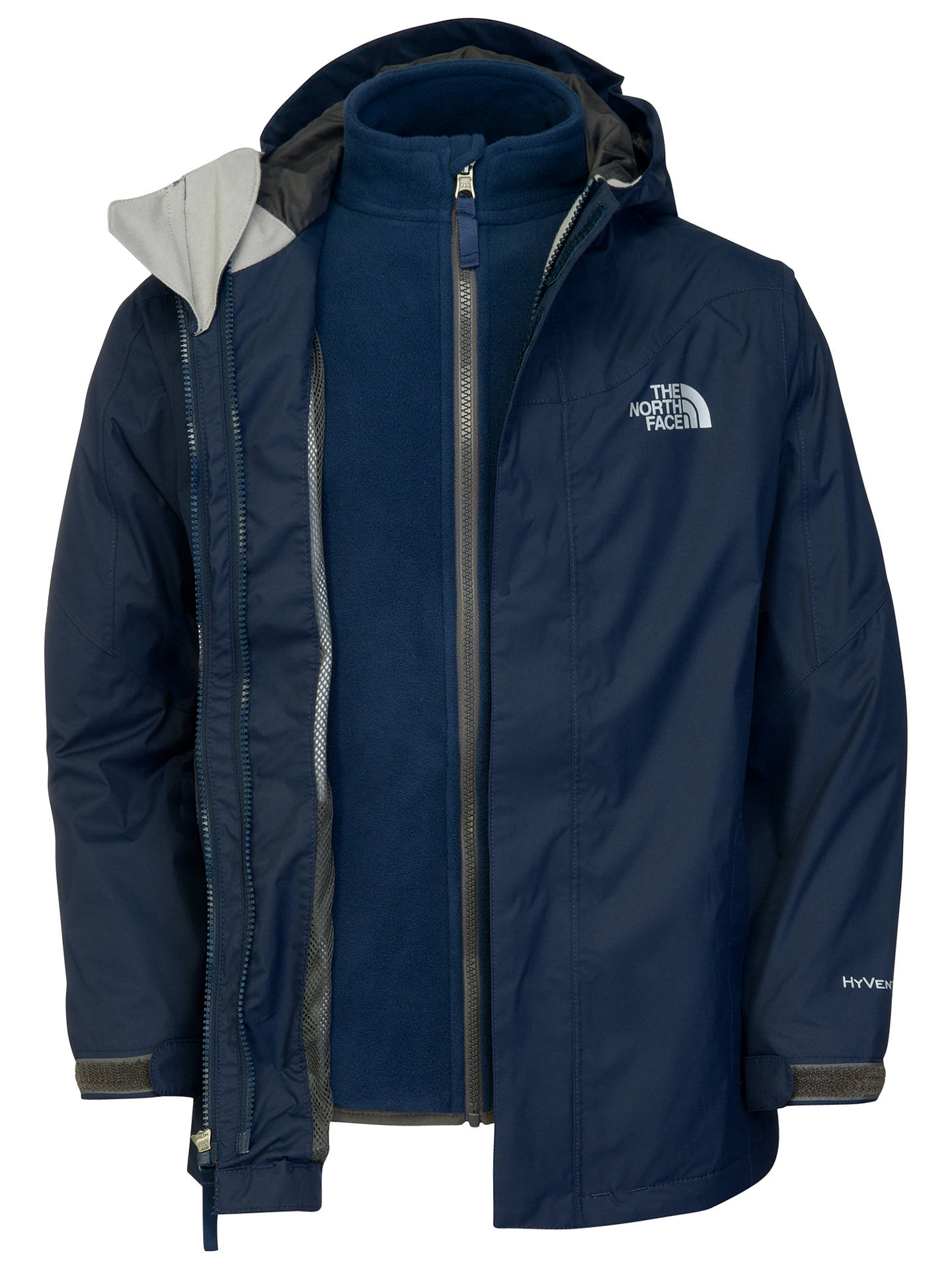 9fdd1f85a The North Face Evolution Triclimate Jacket, Blue at John Lewis ...