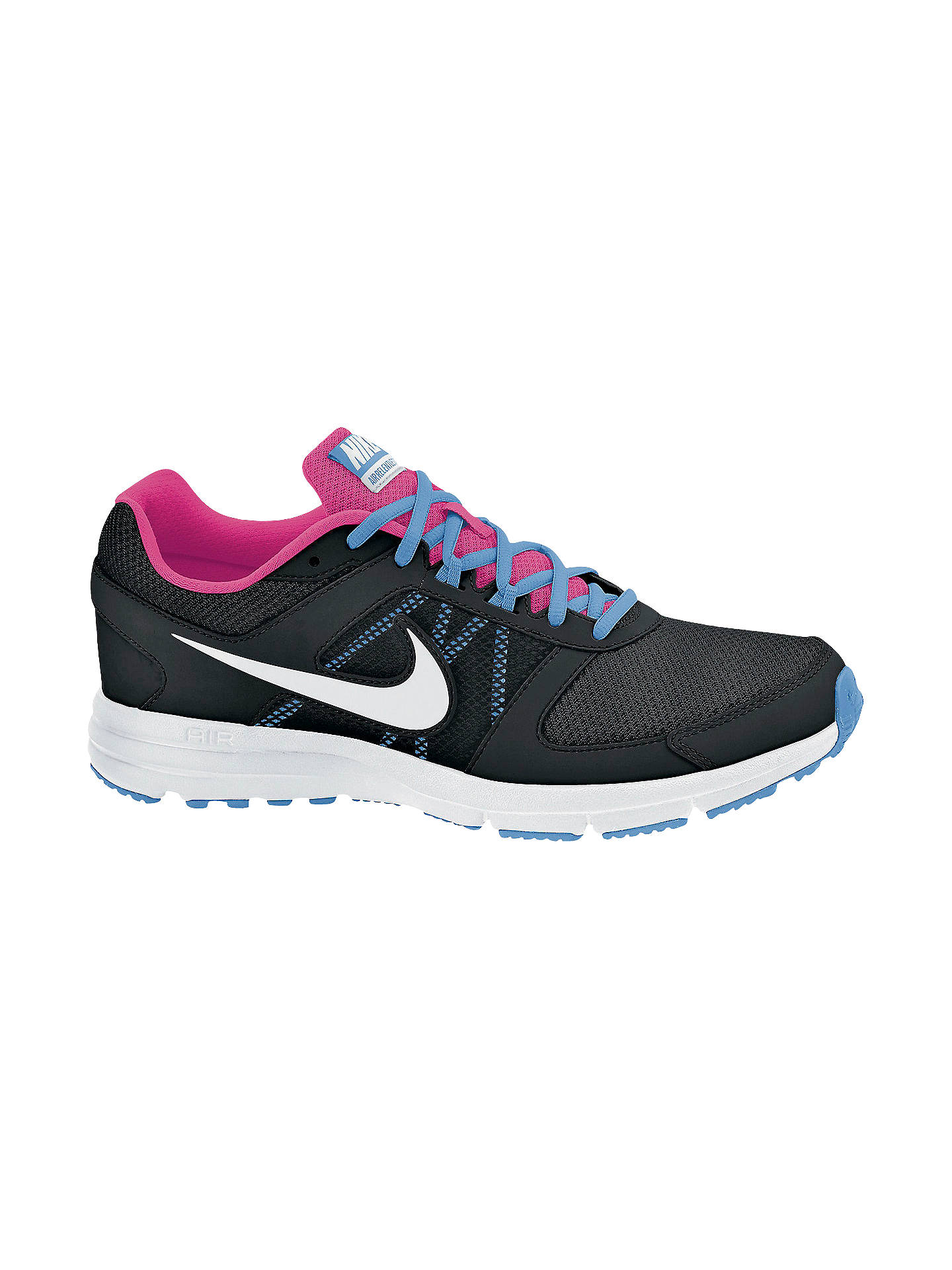 the latest fd842 5f0c5 Nike Women's Air Relentless 3 Running Shoes, Black/White at ...