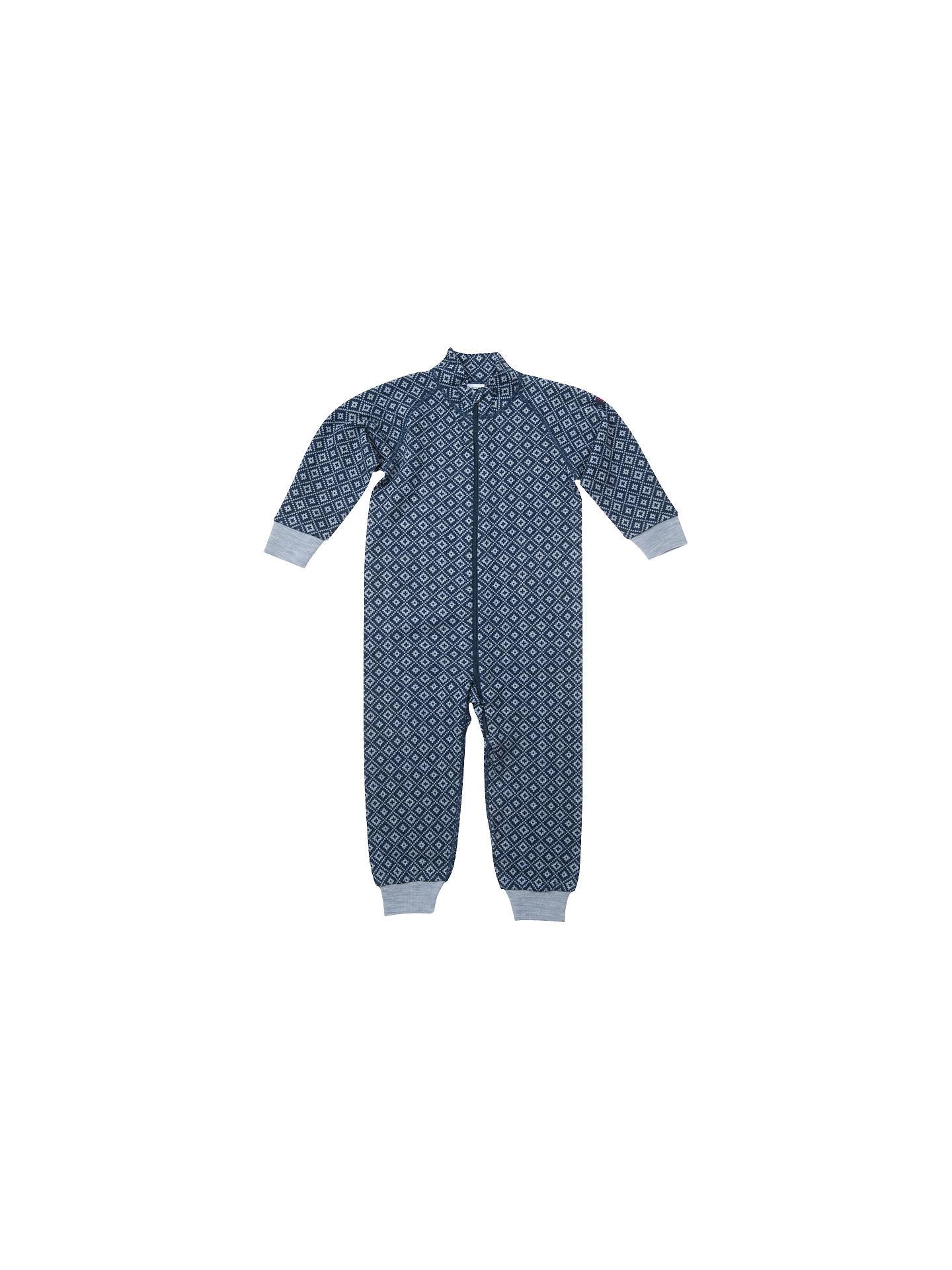 3540de64c3d6 Polarn O. Pyret Baby Merino Wool Snowflake Romper