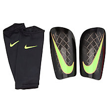 Buy Nike Adult Mercurial Lite Shin Pads, Black/Volt Online at johnlewis.com