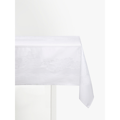 John Lewis & Partners Rose Jacquard Tablecloth, White