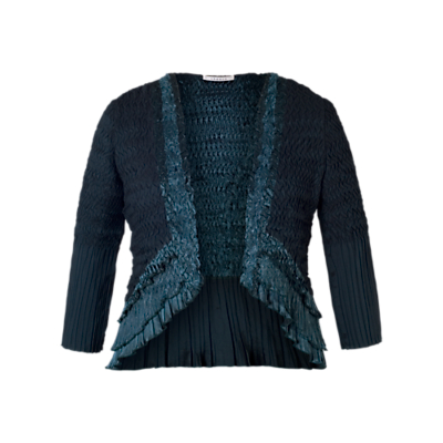 Steampunk Vests and Wraps Chesca Pleat Lace and Satin Shrug Ink £105.00 AT vintagedancer.com