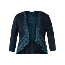 Buy Chesca Pleat Lace and Satin Shrug, Ink Online at johnlewis.com