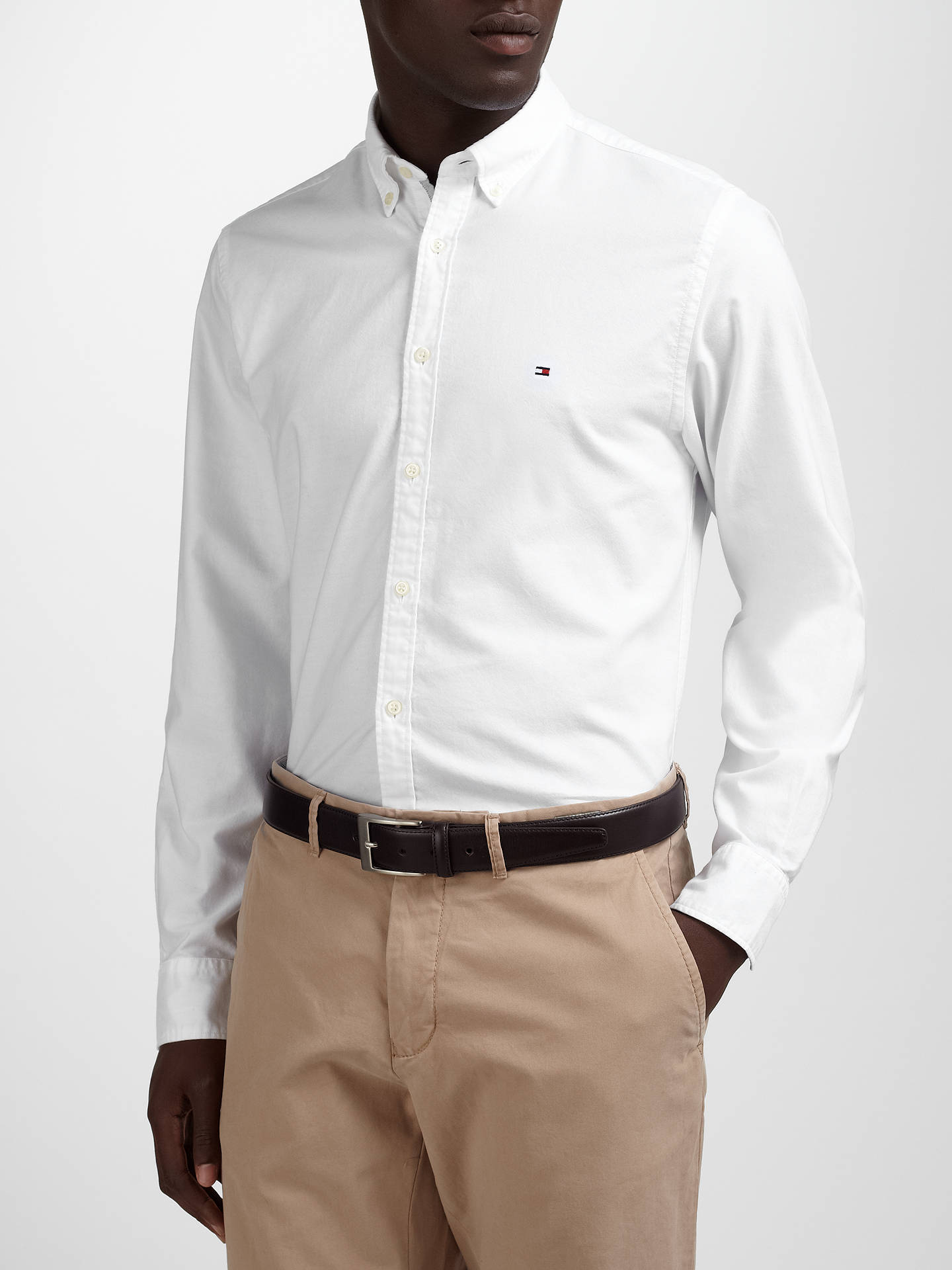 4c0a079c ... Buy Tommy Hilfiger Ivy Oxford Shirt, White, M Online at johnlewis.com  ...