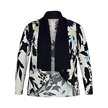 Buy Chesca Floral Print Shrug, Ivory/Ink Online at johnlewis.com