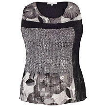 Buy Chesca Patchwork Printed Camisole, Black/Ivory Online at johnlewis.com