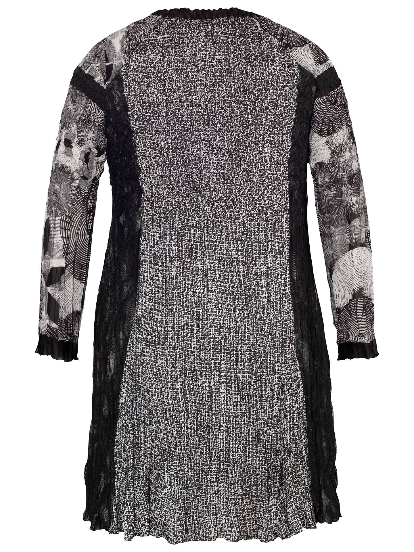 BuyChesca Patchwork Printed Coat, Black/Ivory, 12-14 Online at johnlewis.com