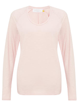 Buy Collection WEEKEND by John Lewis Long Sleeve Slub T-shirt, Pale Pink, 8 Online at johnlewis.com