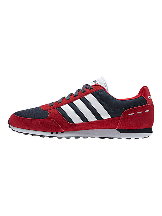 Adidas Neo City Racer Shoes, Navy/White/Red